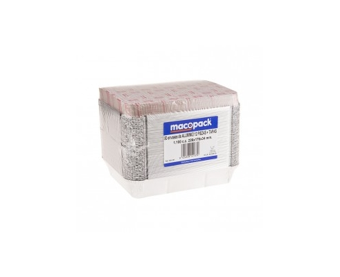 envase aluminio rect.315x215mm(50 Uds)