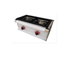 Cocina de dos fuegos de sobremesa a gas 600x330x300 mm