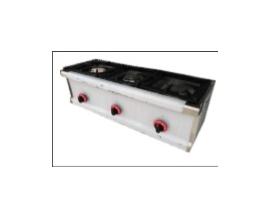 Cocina de 3 fuegos sobremesa a gas  900x330x300 mm