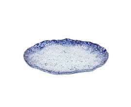Plato postre cobalto 20x1.5 cm